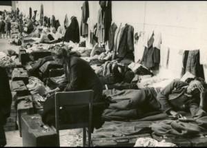 Tyske flygtninge under indkvartering i København. Foto fra Frihedsmuseets Arkiv